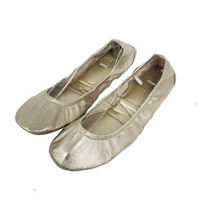GAP metallic gold foldable ballet flats